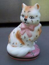 "Franklin Mint Staffordshire Curio Cabinet Cat Figurine 1986 2.5"" tall"