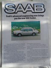 Saab 900 Sedan brochure 1981 900 turbo poster