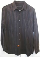 Tommy Bahama 100% Silk Mens Long Sleeve Button Front Shirt Medium