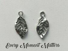 AC2246 4 x Silver Plated Filigree Metal Leaf Pendants 40mm x  18.80mm