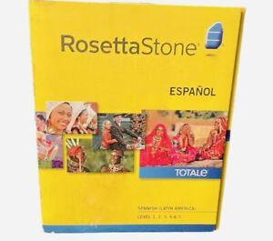 Full ROSETTA STONE Spanish / Espanol Level 1-5 Set NO Headset HOMESCHOOL CD DVD