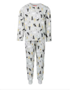 New Family PJ's Matching Kids Winter Tree Family Pajama Set, M(8)