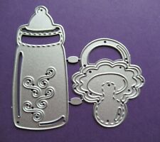 NEW 2 Pc Baby Bottle & Dummy Metal Craft Cutting Die - FREE P&P FROM UK SELLER