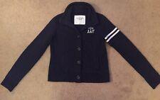 Womem's Abercrombie & Fitch A&F New York 1992 Cardigan Jacket Navy White Medium
