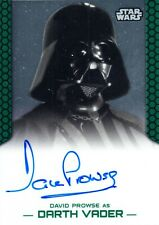 David Prowse Auto Card Star Wars Darth Vader Topps Perspectives 2015 Autograph