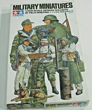 Military Miniatures German Soldiers at Field Briefing Tamiya 1/35 kit #35212