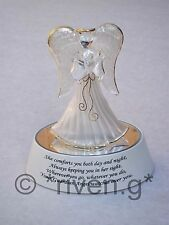 GUARDIAN ANGEL L.E.D. LIGHT UP RELIGIOUS BLESSING GIFT@WHITE BIBLICAL PRAYER BOX