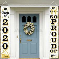 """2020 Graduation Porch Sign """"We Are So Proud Of You Sign"""" Wall Hanging Banner USA"""