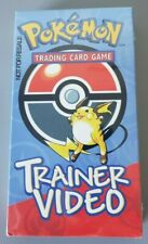 POKEMON TCG TRAINER VIDEO NEW &SEALED! WOTC NFR NOT FOR RESALE Wizards Promo VHS