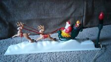 ANTIQUE CHRISTMAS COLLECTIBLE DECORATION WORKS MOVES MUSIC AND LIGHTS