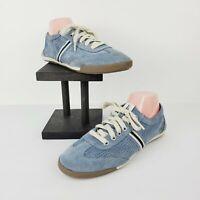 ELLEN DEGENERES ED Women's Escondido Suede Leather Blue Sneakers Sz 10M NWOB