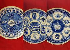 3  Ringtons Tea Collection Plates , Masons Blue & White Dresser Plates w