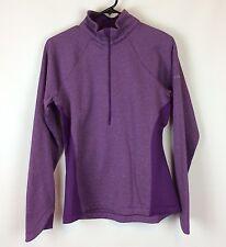 Columbia Sportswear Jacket Size Medium Purple Half Zip Stretch Knit Workout Yoga