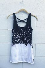 Organic Cotton Yoga Tank! LVR Crossbank Tank Frost Splatter - Large