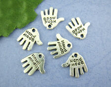 """80pcs """"hand Made"""" Thenar Charms Pendants Jewellery Finding 11x12mm"""