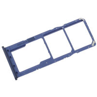Dual Sim Micro SD Card Tray For Samsung Galaxy A21s A217 Replacement Holder Blue