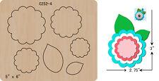 New Flowers  Wooden Die , Cutting Dies , Scrapbooking  C-252-4
