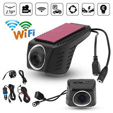 1080P HD Hidden WiFi Car DVR Camera Video Recorder Dual Cams Night Vision 170°