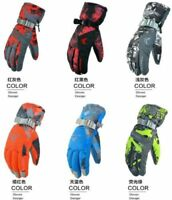 New Men's Winter Warm -30℃Waterproof Windproof Snow Snowboard Ski Sports Gloves