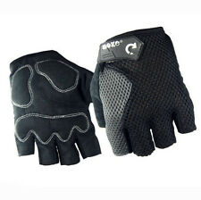 MTB Bike Gloves Half Finger Shockproof Outdoor Sports Pad Bicycle Glove Black L