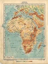 Carta geografica antica AFRICA Carta fisica 1926 Old antique map
