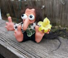 "Vintage Tiny Tim Troll Doll With Original Clothing 3.5"""