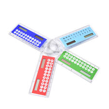3in1 Mini Solar Power Calculator 10cm Long Magnifying glass Ruler Function HU