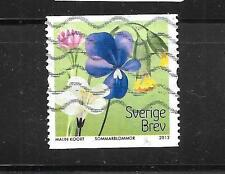 SWEDEN SWEDISH SC# 2691 2012 FLOWERS POSTALLY USED COMMEMORATIVE STAMP