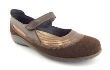 NAOT Size 7 KIREI Brown/Bronze Suede Mary Jane Flats Shoes 38