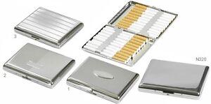 Portasigarette cigarette case in metallo cromato 20 sigarette Ks LUBINSKI  N220