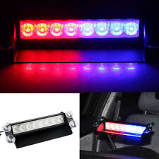 8 Led flashing light bar Car Truck Van Emergency Suction Cup Windscreen 12V