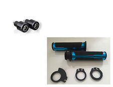 BARRACUDA KIT MANOPOLE RACING BLU 120 mm + CONTRAPPESI NERI per MOTO GILERA