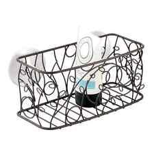Large Bathroom Accessories Shower Bronze Suction Basket Caddy Rack Storage Bath