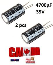 2PCS 4700UF 35V 105°C Radial Electrolytic Capacitor 18*30mm Car Auto