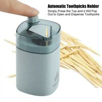 European Style Toothpicks Holder Cotton Swab Box Wheat Straw Toothpick Dispenser