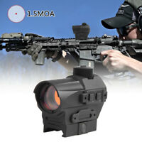 1.5 MOA QD Reflex Rifle Scope Red Dot Sight W/ Laser Mount for Picatinny Rail