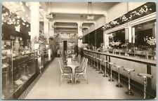SAN DIEGO CA BARBOUR CONFECTIONERY INTERIOR ANTIQUE REAL PHOTO POSTCARD RPPC