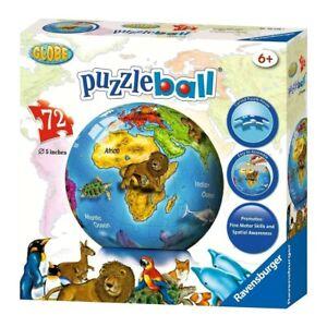 RAVENSBURGER. 3D PUZZLE BALL. GLOBE. 72 PCS. ITEM NR. 12126 NEW