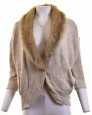 ARMANI Womens Cardigan Sweater Size 10 Small Beige Oversized BA12
