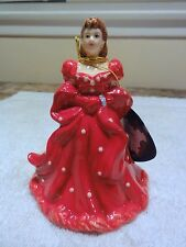 """Gone With The Wind """" Red Dress Scarlet """" Figurine Bell With Box"""