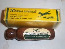 Weems Wild Call for Fox, Wolves, Cats Vintage, Fort Worth Texas, Original Box