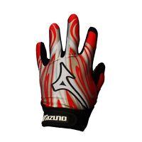 NEW Mizuno Adult Parashock Baseball Red Batting Pair of Batters Gloves 7400-OD