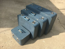 """4 PC Vintage Monarch Luggage Suitcase 29"""" -  26"""" - 21"""" & Cosmetic Carry-On Train"""