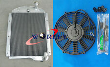 3 Core Aluminum Radiator + Fan for Chevy PickUp Trucks 1941-1946 42 43 44 45