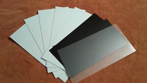 (A) WHITE/BLACK/CLEAR STYRENE SHEET ASSORTMENT 0.015, 0.02, 0.03, 0.04, 0.06 LOT