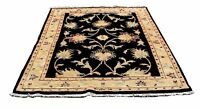 Sultanabad Style Area Rug from Azerbaijan in Indigo, Tan, & Cream - 5x7ft