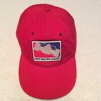 Vintage IRL Indy Racing League Red Hat w/ Patch Adjustable Strapback Cap