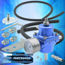 Psi Adjustable Blue Fuel Pressure Regulator + Gauge +Hose For Corolla Mr2 Celica