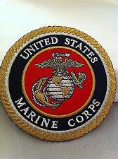 "USMC Marine Corps Patch, 4 1/2"" Diameter  Free Shipping!!"