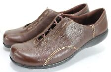 Clarks Viola $90 Women's Casual Oxfords Shoes Size 10 Pebbled Leather Brown